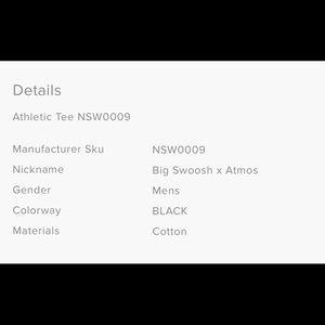 dedc7b06e5e9 Nike Shirts - Nike Big Swoosh x Atmos T-Shirt
